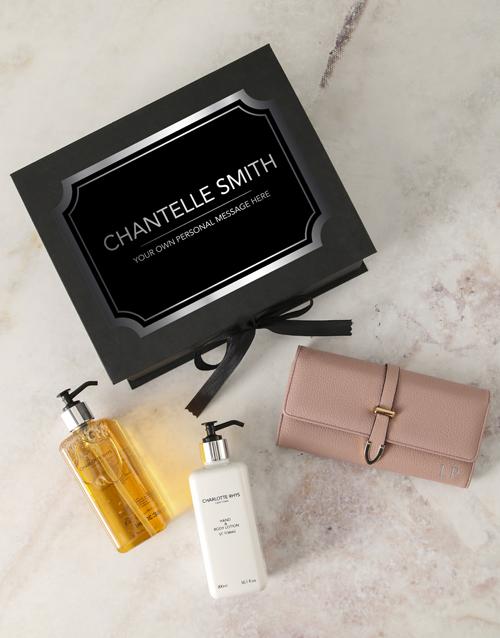 personalised: Personalised Pink Purse And Charlotte Rhys Hamper!