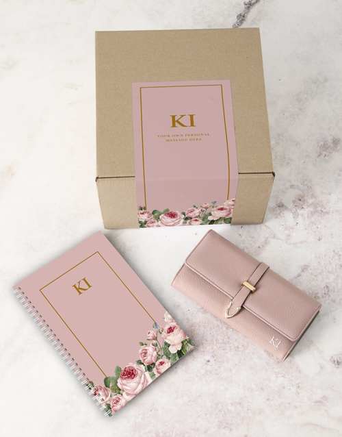 personalised: Personalised Pink Purse And Notebook!