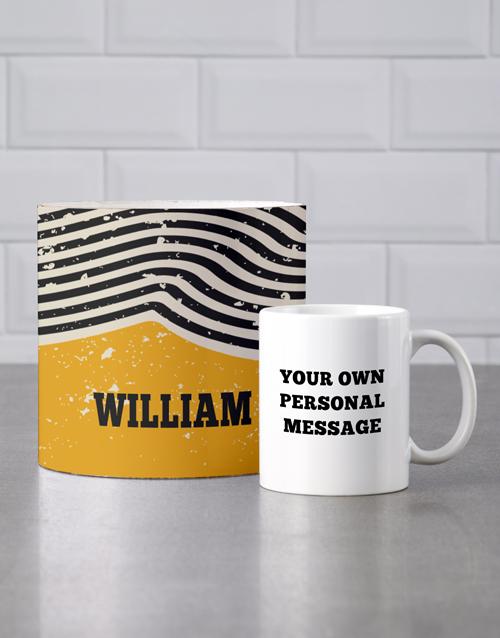 mothers-day: Personalised Rustic Mug Tube!