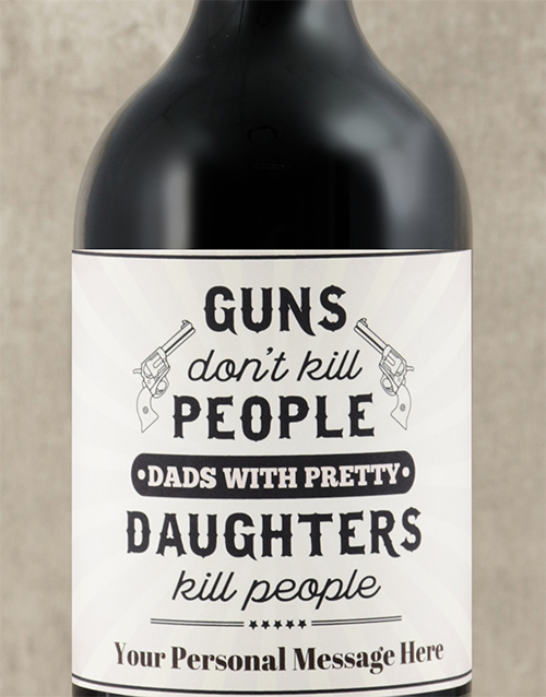 fathers-day: Personalised Pretty Daughters Wine!