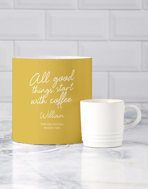 homeware: Personalised Good Things Le Creuset Mug Tube!