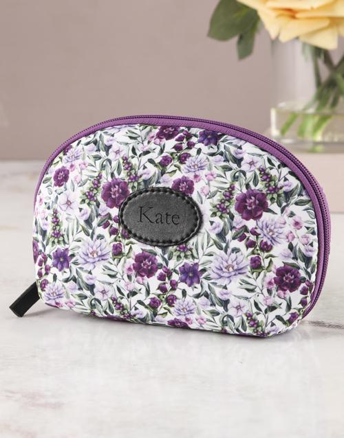 personalised: Personalised Purple Paradise Cosmetic Bag!