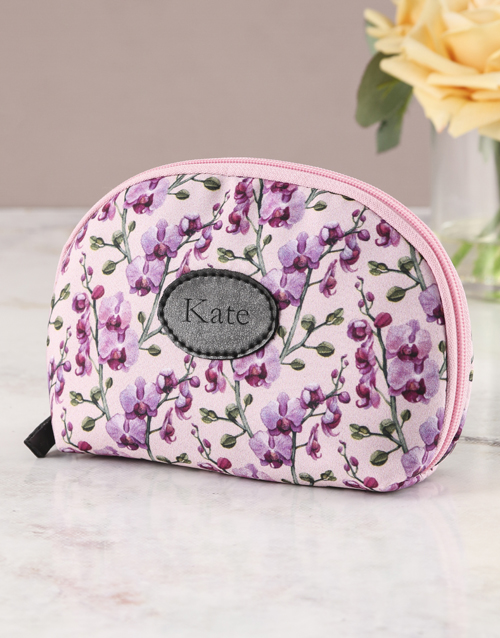 personalised: Personalised Orchid Opulence Cosmetic Bag !
