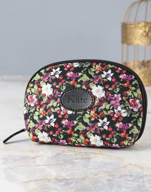 personalised: Personalised Floral Fantasy Cosmetic Bag!