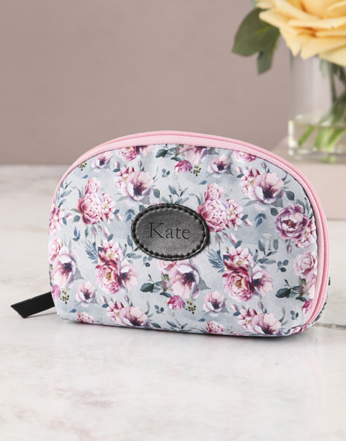 personalised: Pink Perfection Floral Cosmetic Bag!
