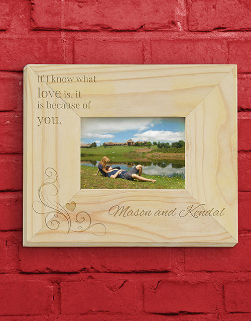 home-decor: Personalised Soul Mate Photo Frame!