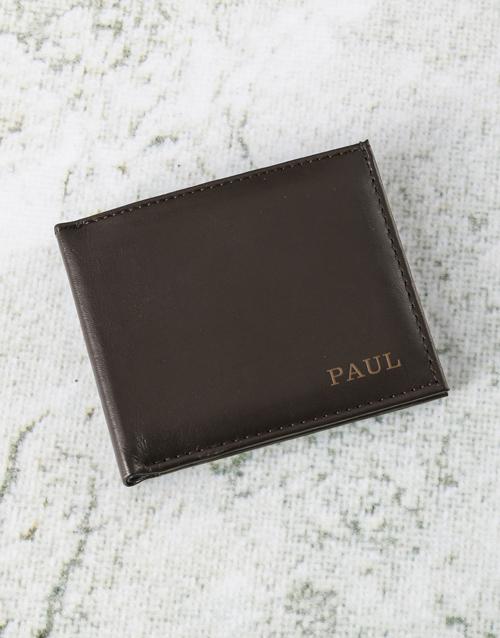 personalised: Personalised Suave Brown Leather Wallet!