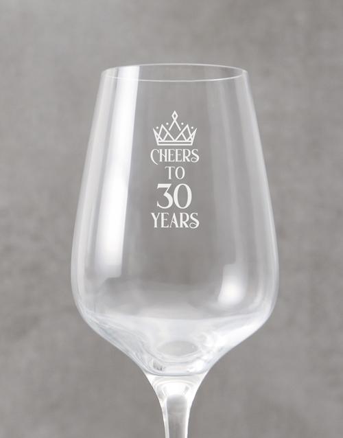 personalised: Personalised Anniversary Wine Glass!