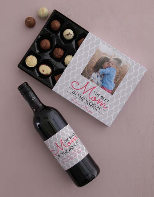 personalised: Personalised Photo Mom Choc Tray!