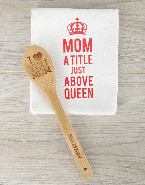mothers-day: Personalised Love You Mom Spoon!