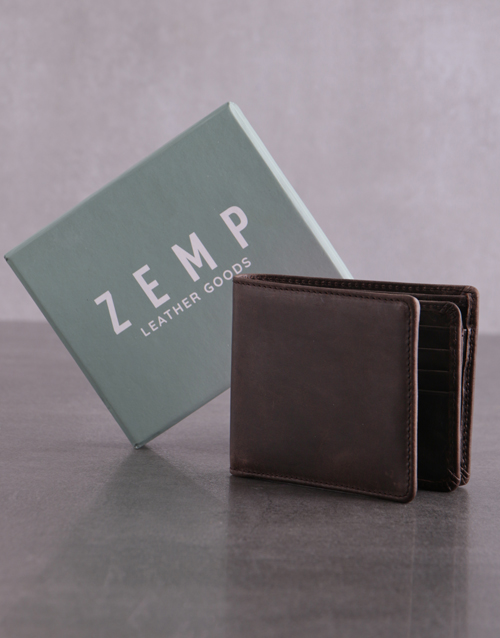 fathers-day: Personalised ZEMP Brown James Mens Wallet!