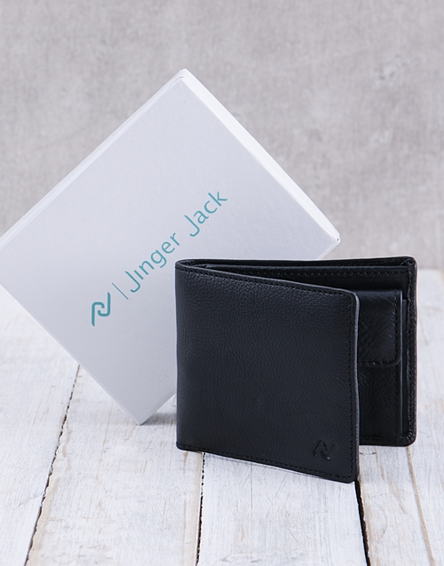 fathers-day: Personalised Black Jinger Jack Max Mens Wallet !