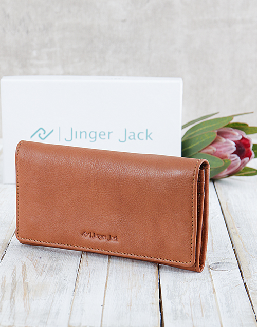 personalised: Personalised Caramel Jinger Jack Ladies Purse!