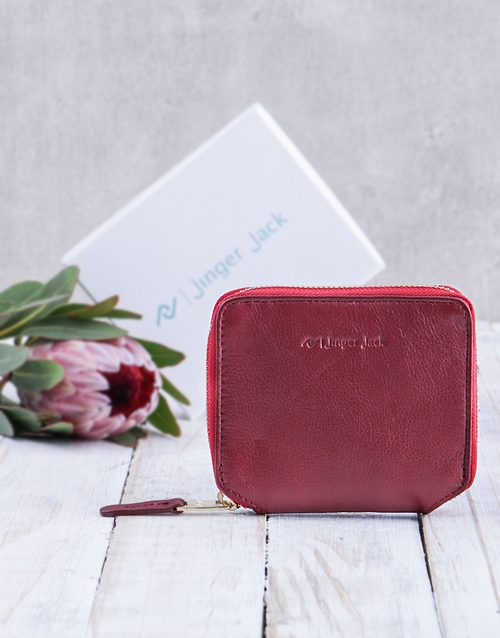 personalised: Personalised Red Jinger Jack Sofia Ladies Purse!
