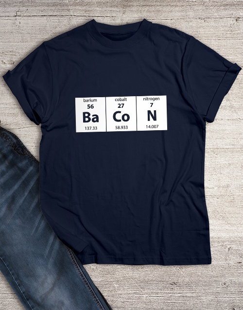 gifts: Elements of Bacon T Shirt!