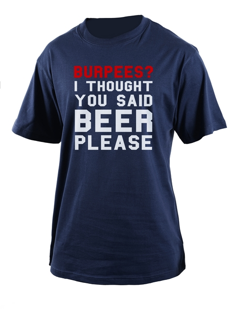 clothing: Personalised Black Burpees T Shirt!