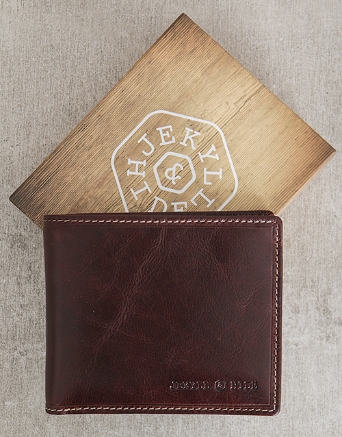 fathers-day: Jekyll and Hide Oxford Coffee Personalised Wallet!