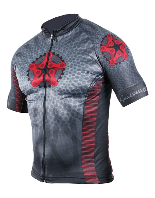 activewear: Mens Retro Star Cycling Shirt!