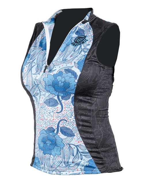mothers-day: Ladies Flora Sleeveless Cycling Shirt!