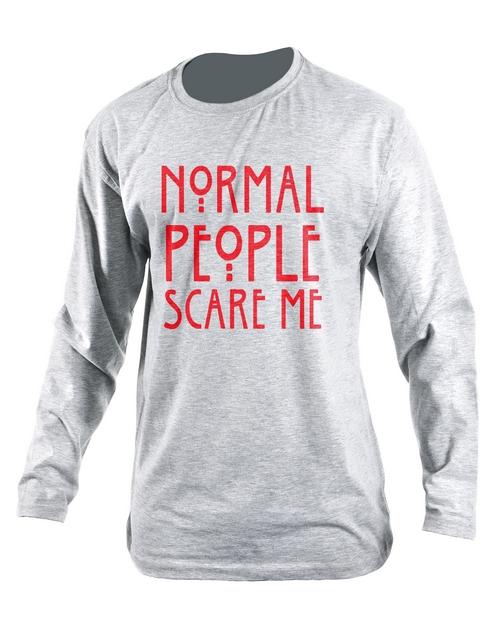 clothing: Personalised Grey Normal People Longsleeve T Shirt!