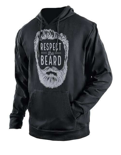 clothing: Personalised Black Respect The Beard Hoodie!