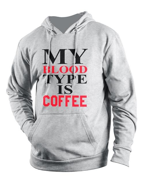 clothing: Personalised Grey Coffee Hoodie!