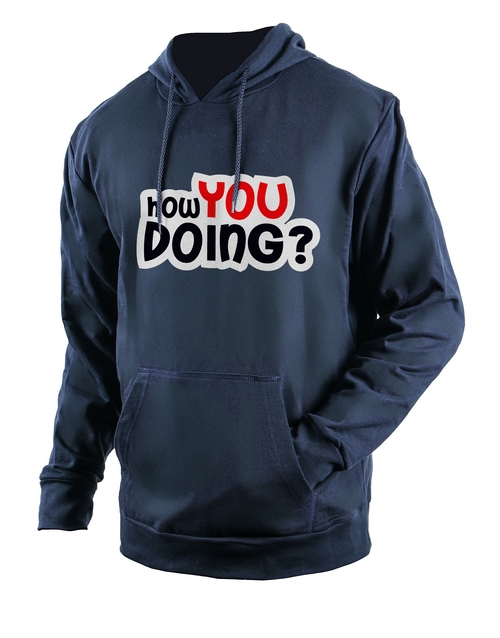 clothing: Personalised Navy How You Doing Hoodie!