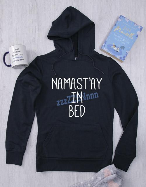 clothing: Personalised Navy In Bed Hoodie!