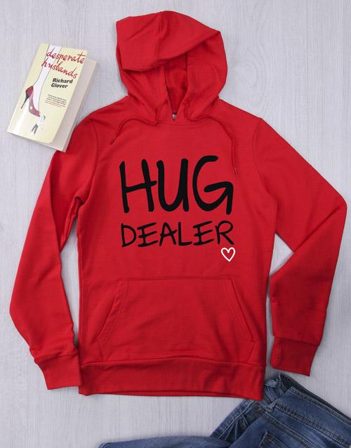 clothing: Personalised Red Hug Dealer Hoodie!