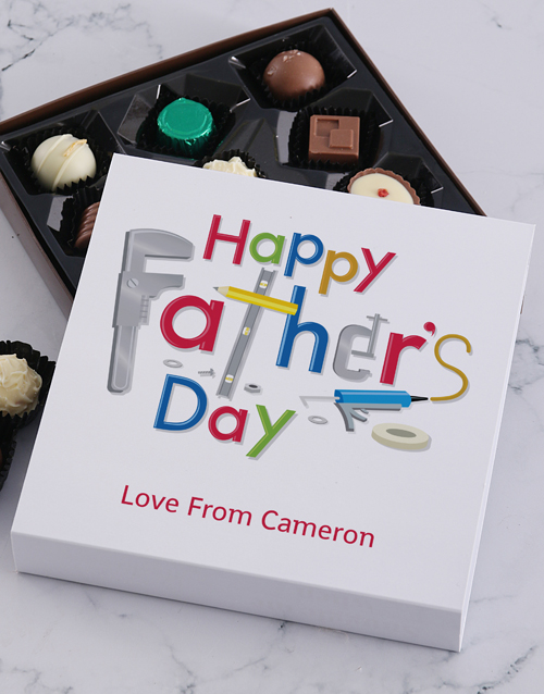fathers-day: Personalised Fathers Day Tools Choc Tray!