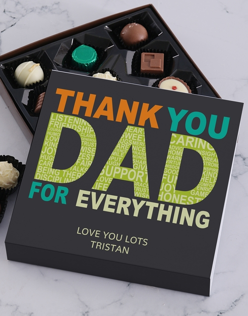 fathers-day: Personalised Thank You Dad Choc Tray!
