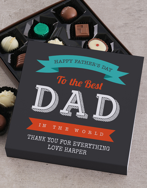 fathers-day: Personalised To The Best Dad Choc Tray!