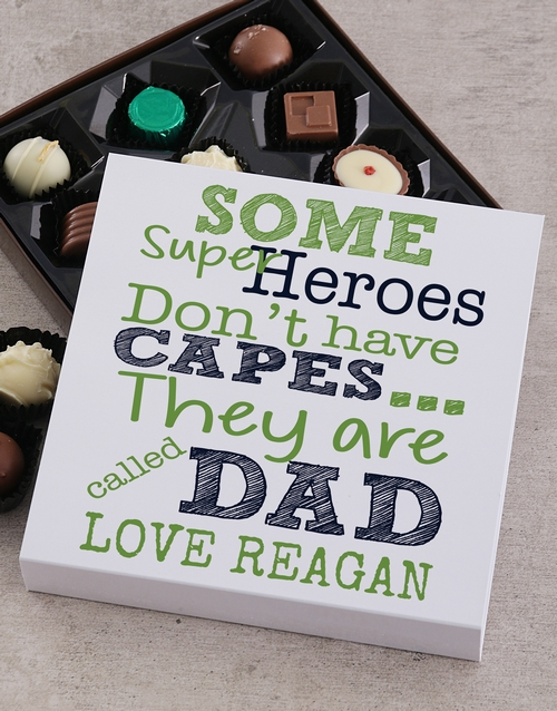 fathers-day: Personalised Hero Dad Choc Tray!