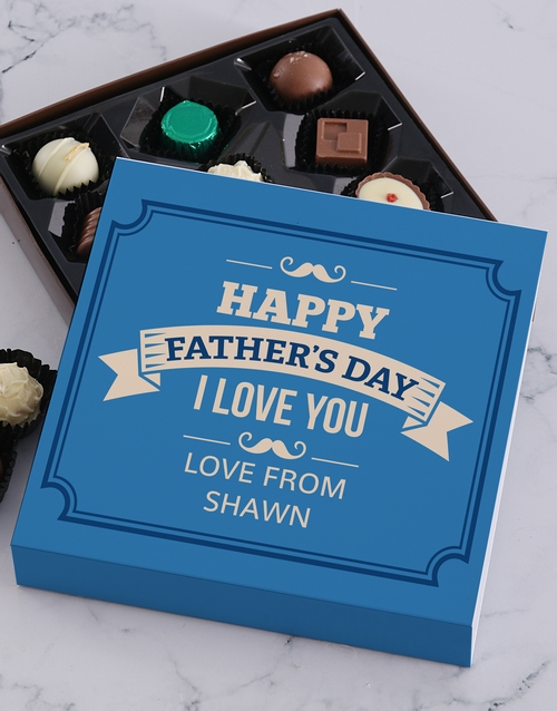 fathers-day: Personalised Father I Love You Choc Tray!