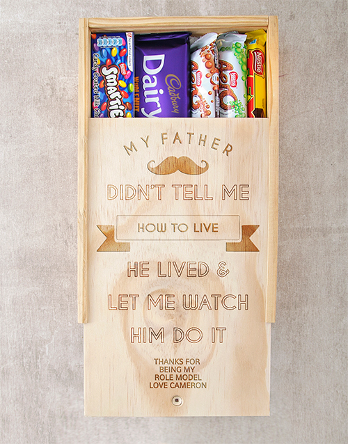 chocolate: Personalised How To Live Choc Crate!