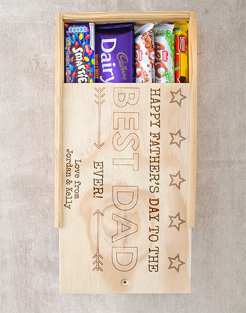 fathers-day: Personalised Best Dad Choc Crate!