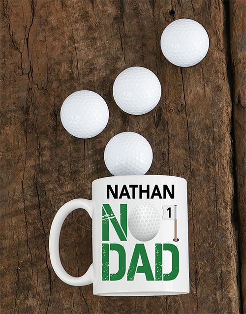 homeware: Personalised Number One Golf Dad Mug!