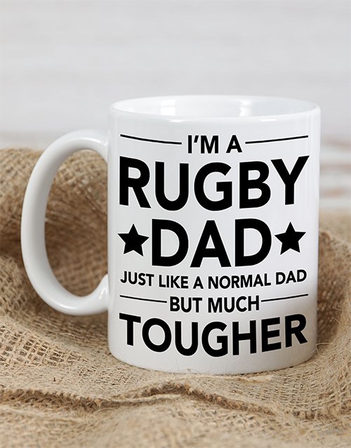 fathers-day: Personalised Rugby Dad Mug!