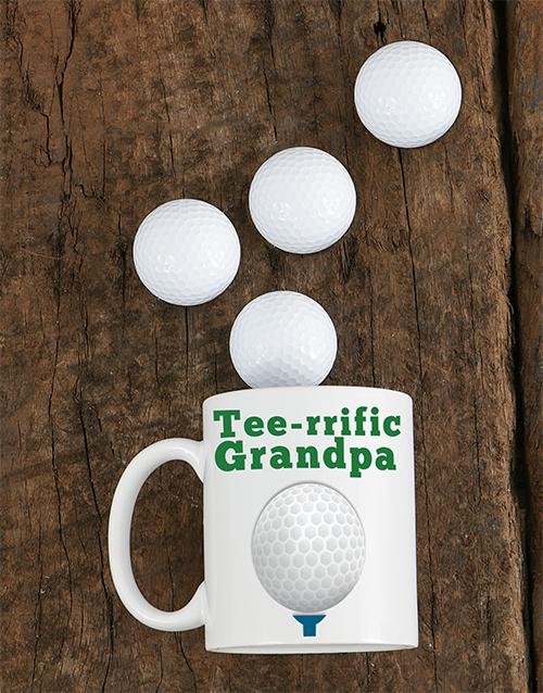 personalised: Personalised Tee rrific Grandpa Mug!