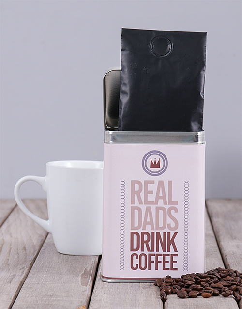 winter: Personalised Real Dads Coffee Tin!
