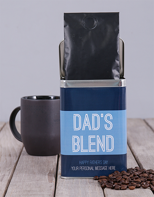 coffee-and-tea: Personalised Dads Blend Coffee Tin!