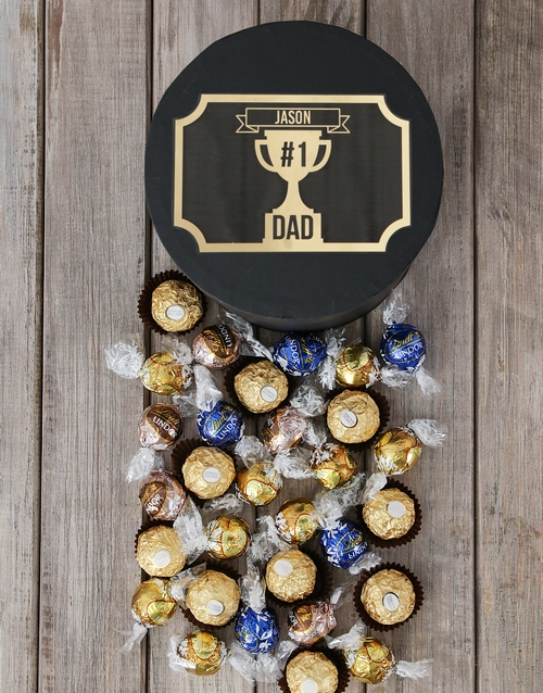 fathers-day: Personalised Number One Dad Truffle Hat Box!