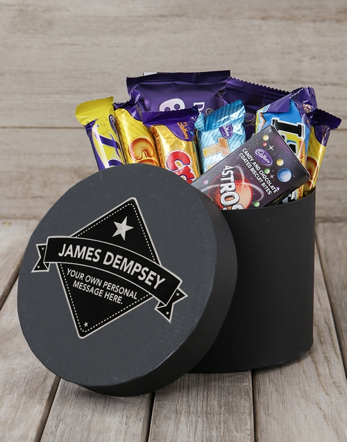 Chocolate Gift Boxes South Africa : Buy personalised star label choc hat box netflorist