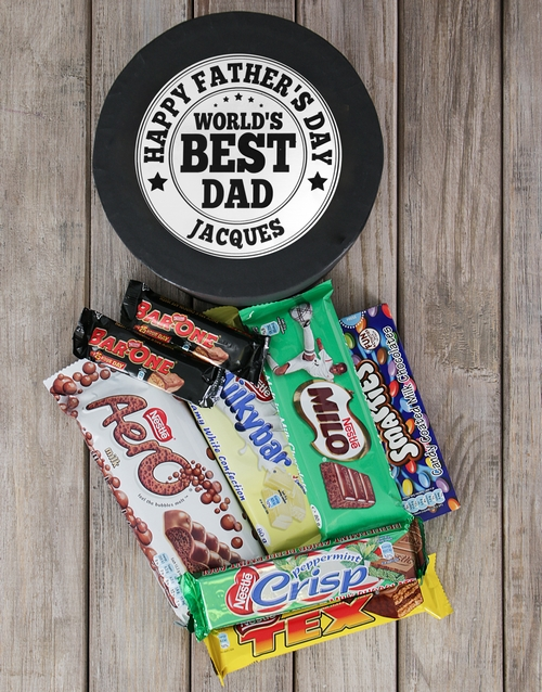 fathers-day: Personalised Worlds Best Dad Choc Hat Box!