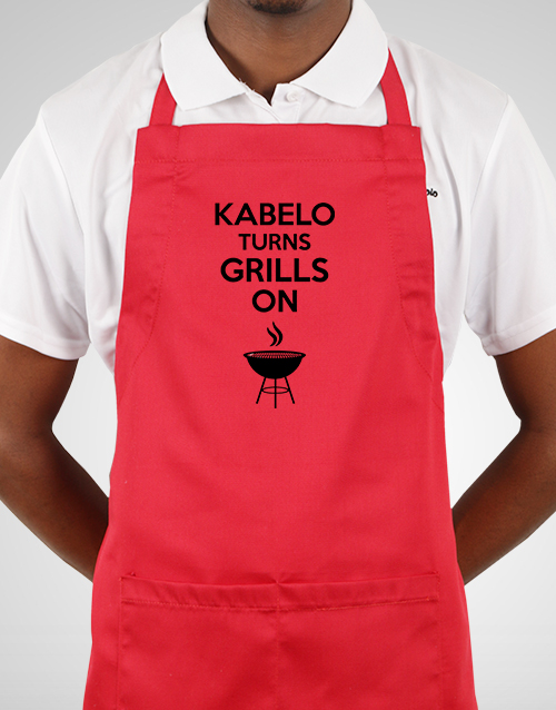 personalised: Personalised Turns Grills On Apron!