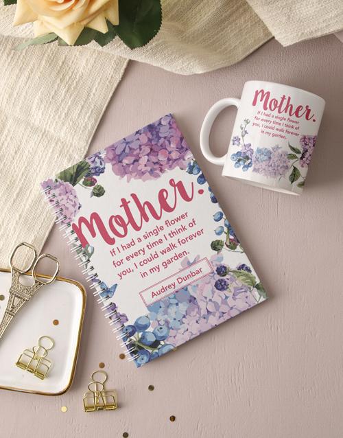 personalised: Personalised Mother Floral Notebook!