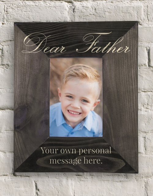 fathers-day: Personalised Dear Father Frame!