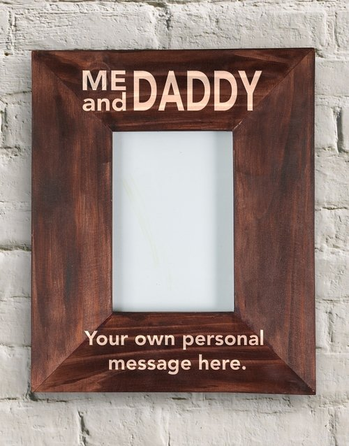 home-decor: Personalised Daddy and I Frame!
