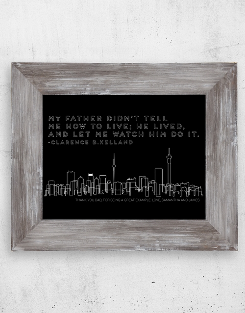 fathers-day: Personalised Father Lived Artwork in Frame!