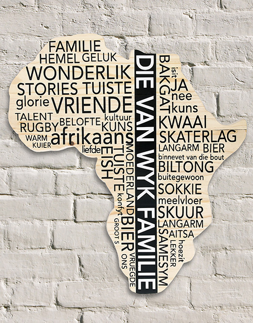 fathers-day: Personalised Familie Africa Board!